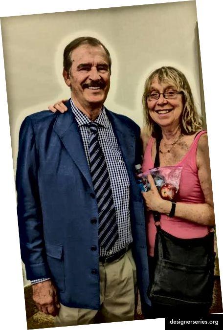 Woj en president Vicente Fox op Moonshots voor Mexico. Moonshots heeft fellows genoemd in Monterey, Mexico en een conferentie voor Mexico staat gepland op thewojway.com