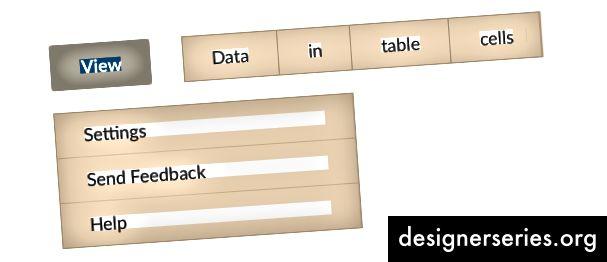 Inserción aplastada en botones, celdas de tabla de datos y elementos de grupo de lista