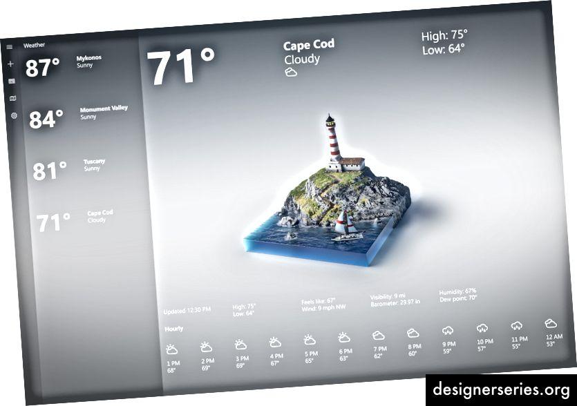 Diorama de Cape Cod optimizado para la aplicación 2D