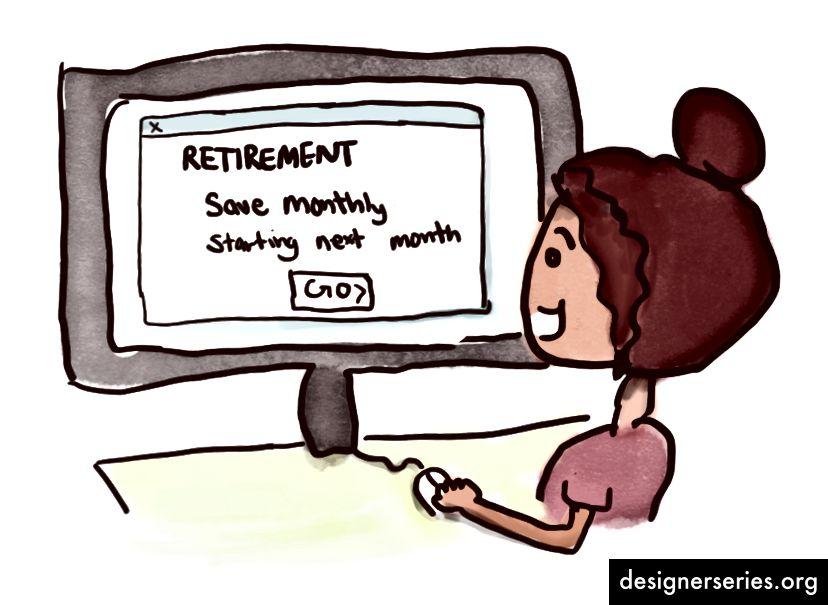 Zich verbinden om een deel van uw inkomen te sparen voor uw pensioen