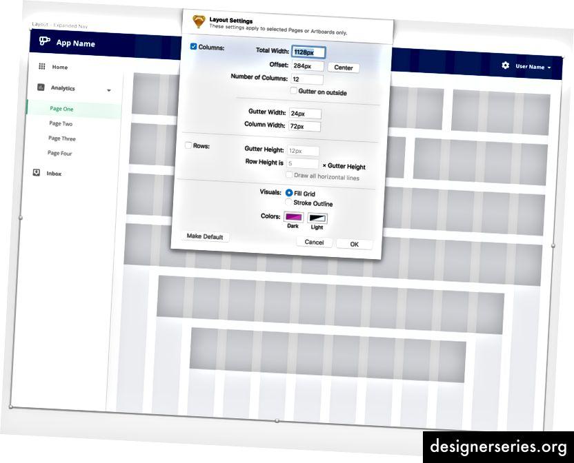 Dette er en app i fuld bredde med et flydende indholdsområde. Efterhånden som browserbredden vokser, forbliver rutenettet på 12 søjler i midten af indholdsområdet.