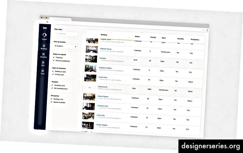 Una interfaz de usuario de ejemplo de uno de nuestros productos que utiliza el sistema de diseño Plasma