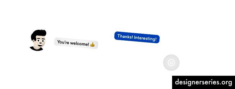 Besked med emoji