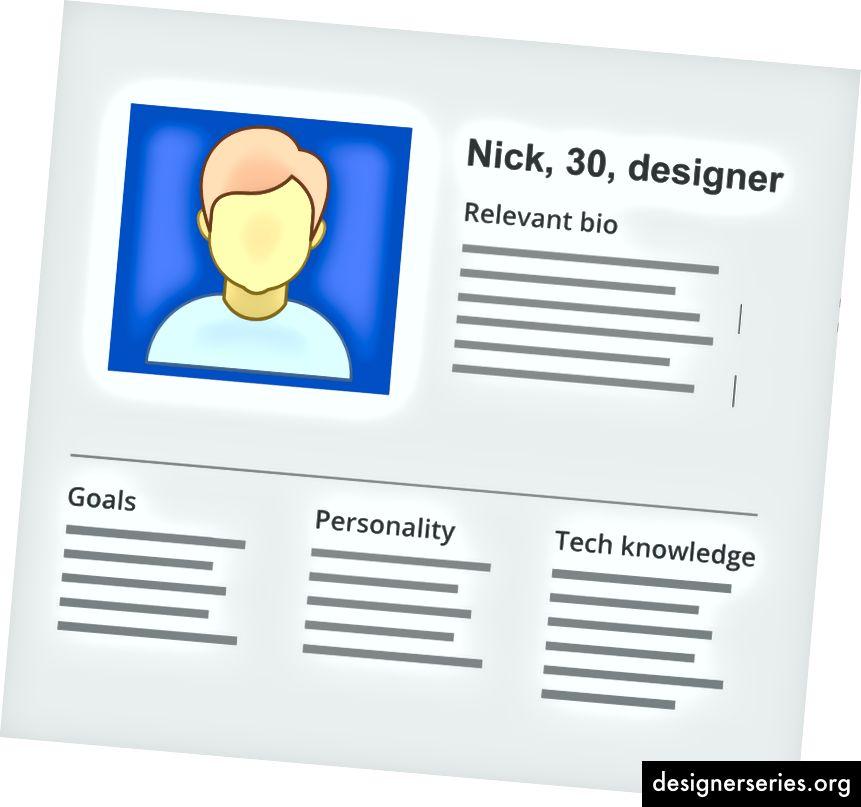 Ontwerpers bouwen de productbases op persona's. Persona's maken het gemakkelijker voor ontwerpers om empathie te creëren met gebruikers gedurende het ontwerpproces.