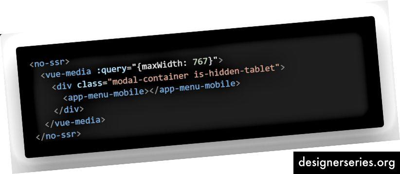 no-ssr führt den beiliegenden Code nur clientseitig aus (kein SSR)
