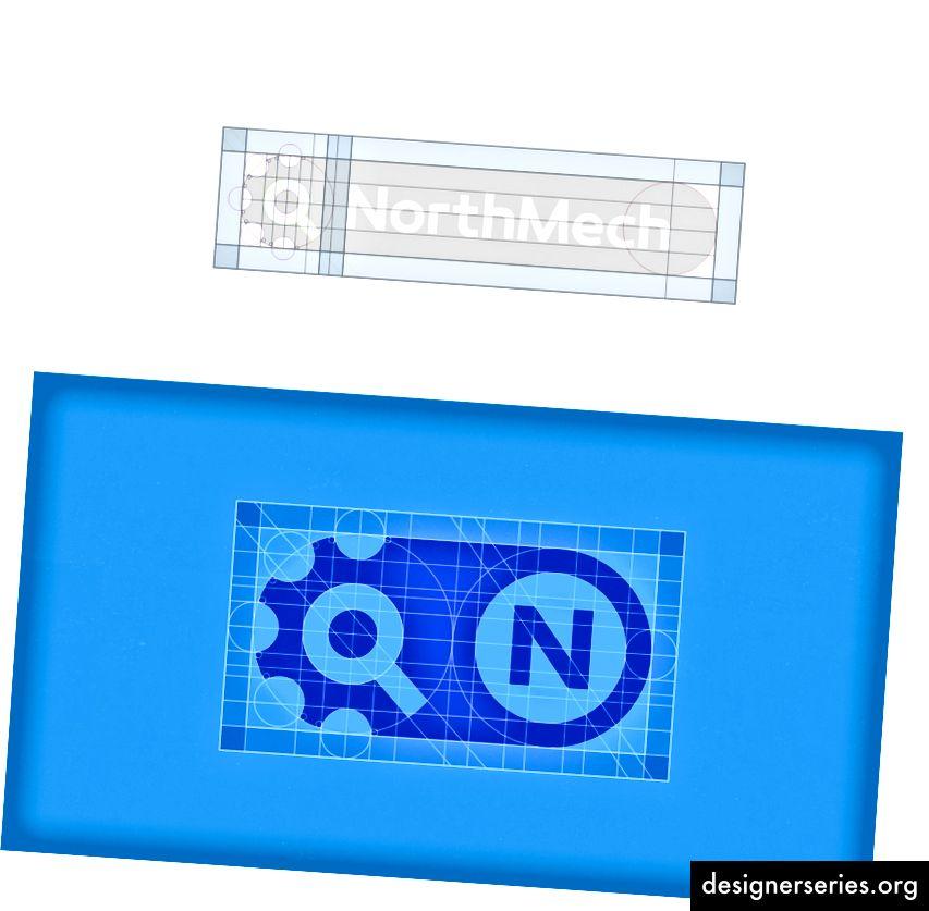 NorthMech Logo Design Grid Construction af Jeroen van Eerden