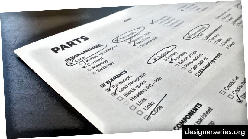 Onderdelen, producten en personen Werkbladactiviteit