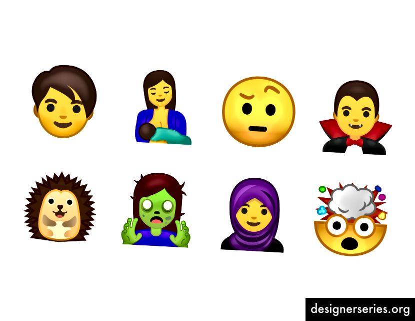 Een greep uit de 69 nieuwe emoji.