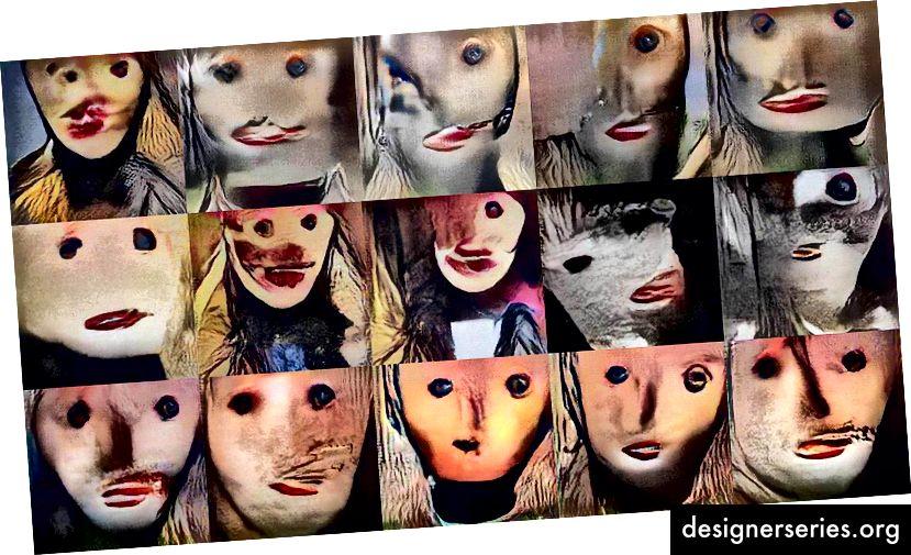 Portrætter oprettet af AI (trænet af Mario Klingemann)