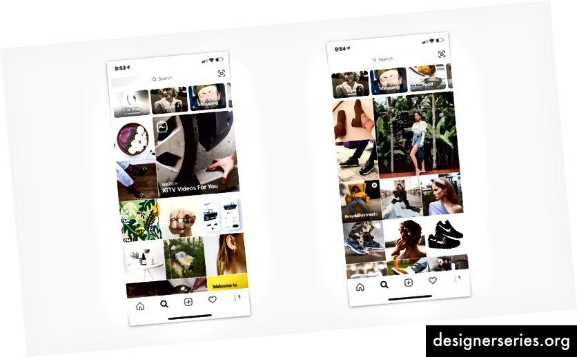 Recomandări personalizate dinamic de conținut în Instagram