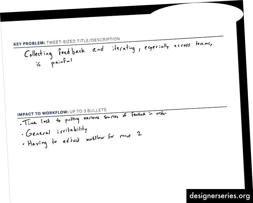 Otro cliente resume el impacto del problema en su trabajo
