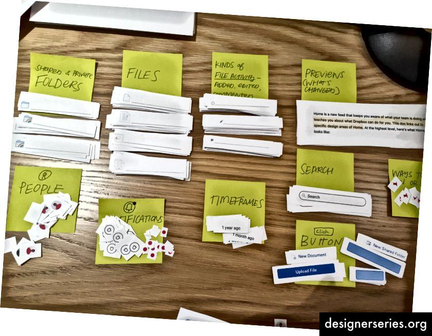 Un subconjunto de elementos de interfaz de usuario básicos que cortamos para el rediseño de dropbox.com/home