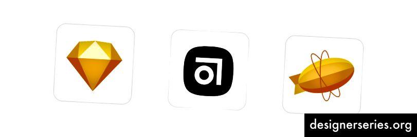 Boceto → UI, Resumen → Versionado, Zeplin → Traspaso (Opcional)