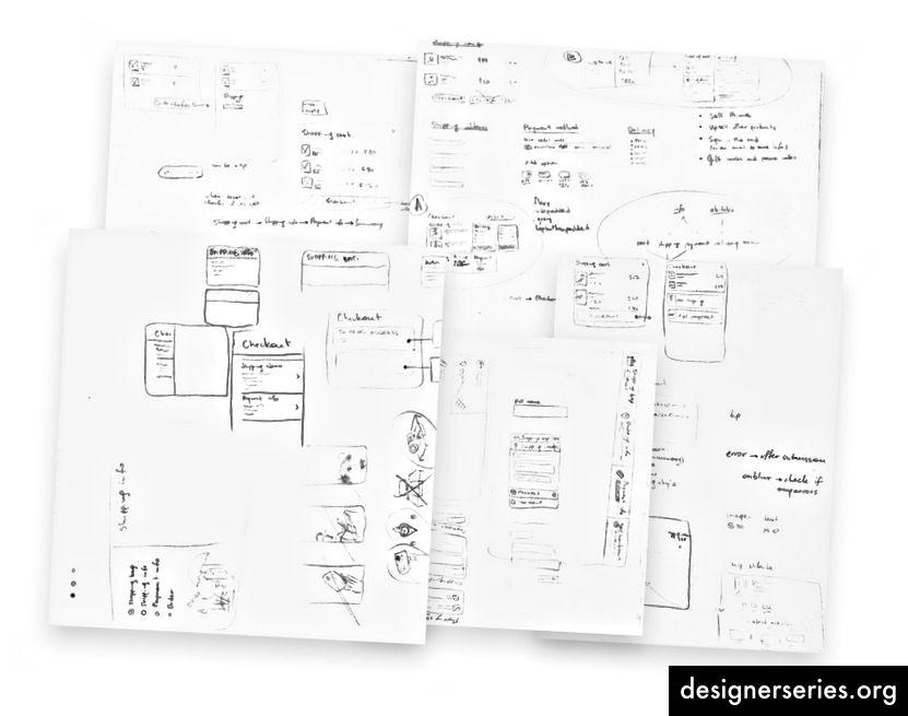 Producten van doodling: lelijk, chaotisch en inzichtelijk.