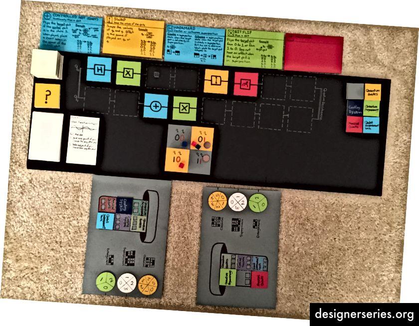 ボードゲームの3回目の繰り返しは非常にカラフルで、楽しくプレイできましたが、量子科学者は「十分に量子的ではない」と感じていました。