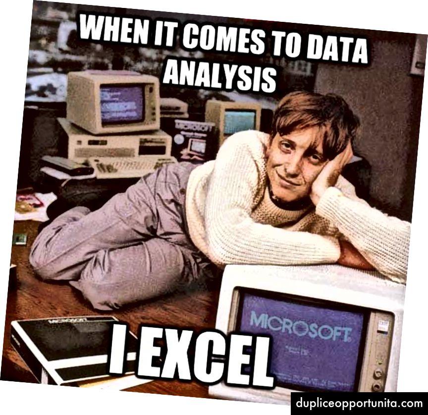 画像ソース:quickmeme.com(RまたはPythonに加えて、Excelも真剣な候補です)