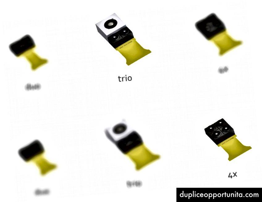 Un esempio delle offerte del modulo videocamera di LinX