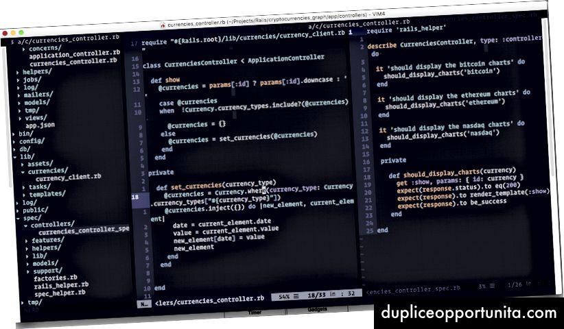 Questa è una visione di questo progetto open source che mostra valori di criptovalute come Bitcoin, Ethereum e Nasdaq