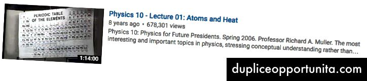 UC Berkeley Physics su Youtube