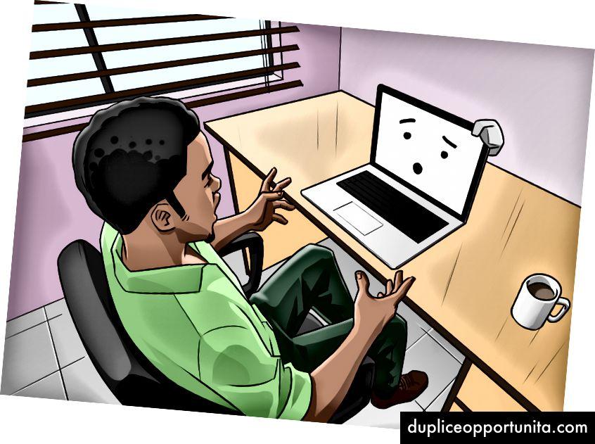 Illustration af John Adesanya