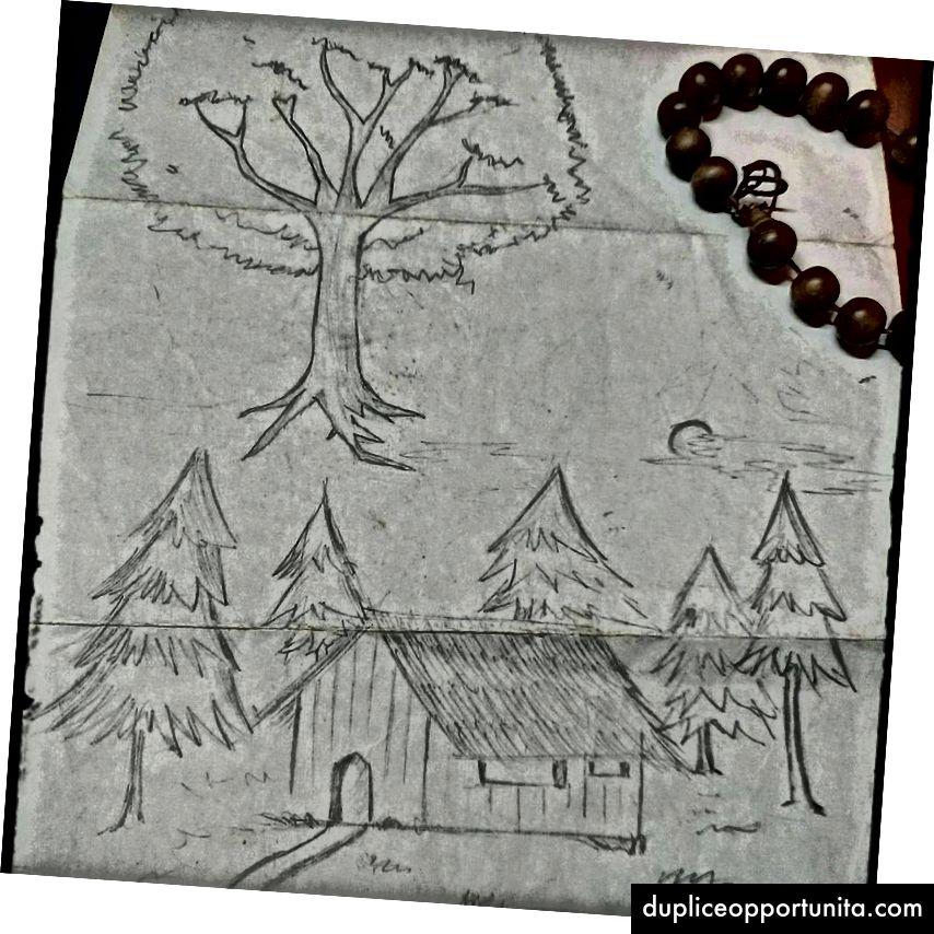 Gli alberi sono così belli. Un disegno che ho fatto quando ero un ragazzino.