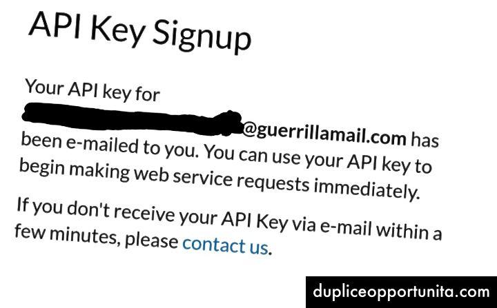 FCC API 키 등록 확인