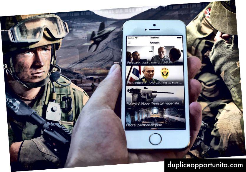Sindre가 군대에서 만든 앱