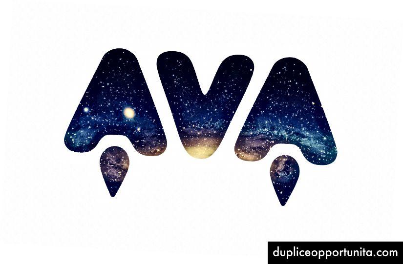 Logo del progetto AVA disegnato da Sindre