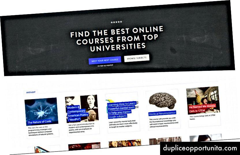 クラスセントラルのホームページ。