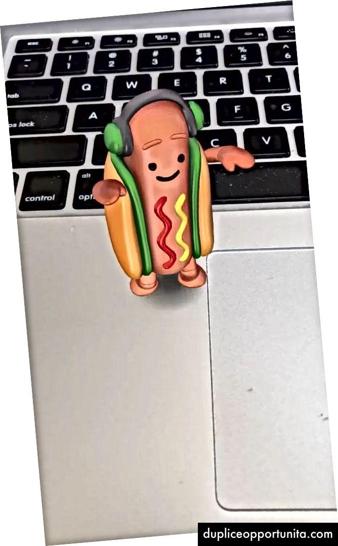 Un hot dog, sul mio computer.