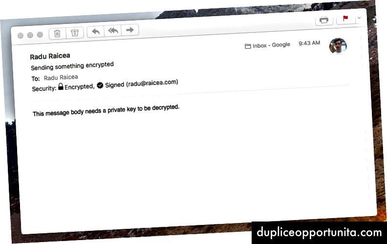 E-mail PGP decifrata