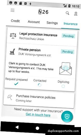 Funzione assicurativa N26