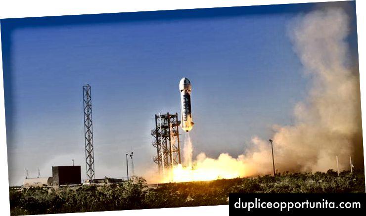 Lancio di Blue Origin