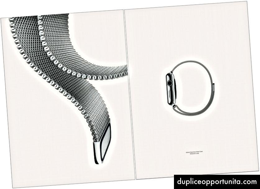 Una pubblicità per l'Apple Watch in Vogue.
