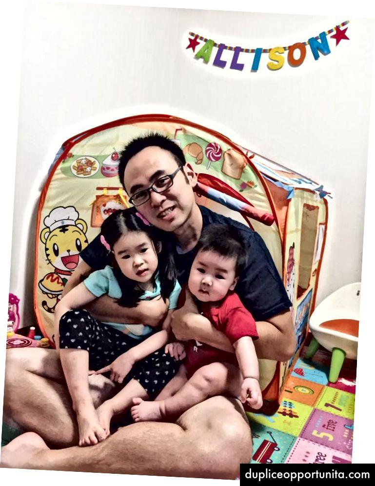 Io, mia figlia e mio figlio paffuto.