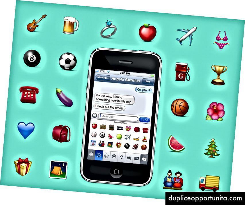Esempio di emoji che ho realizzato in Apple nel 2008.