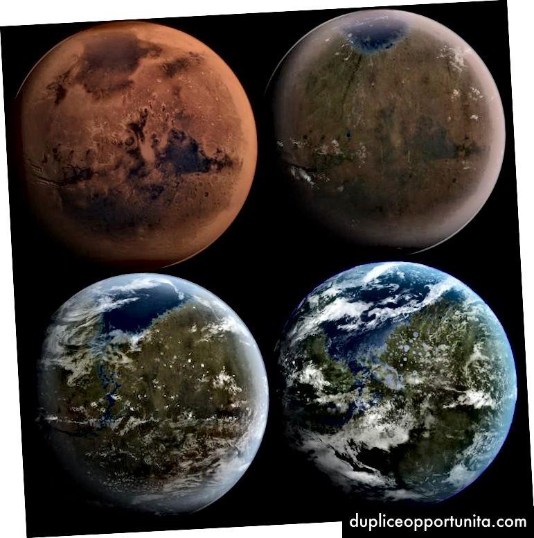 Marte in 4 fasi: alcuni assemblaggi richiedono