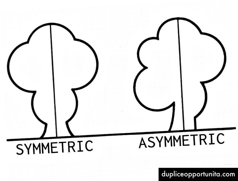 Symmetrinen vs epäsymmetrinen