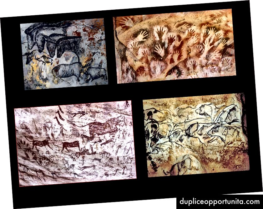 Le storie dei primi esseri umani impressi nelle pietre all'interno delle caverne sono sopravvissute per migliaia di decenni.