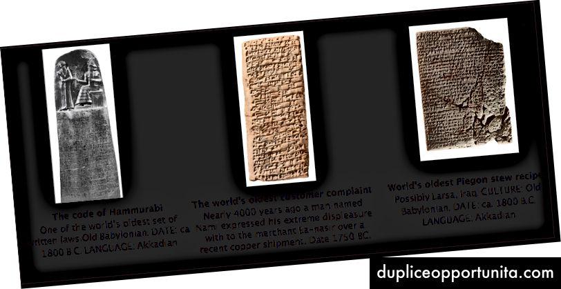 Den tidligste optagelse i tabletter har overlevet i tusinder af år. Kilde.