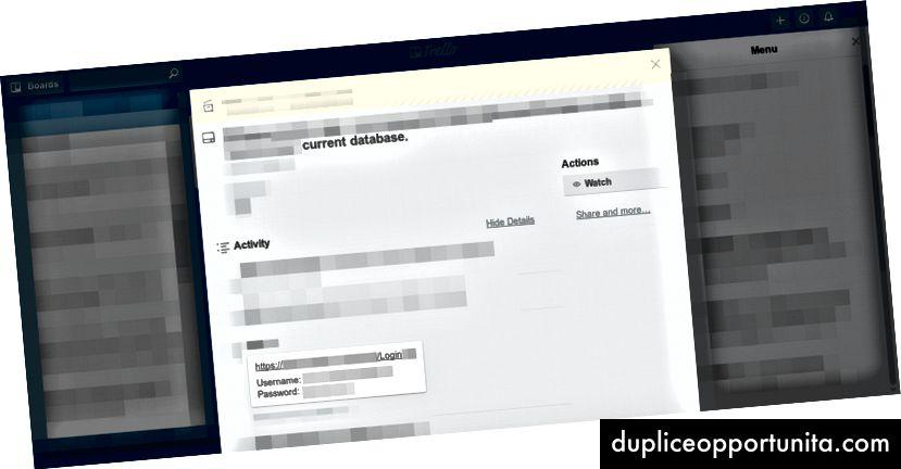НПО, споделяща данни за вход в своя софтуер за управление на донори (база данни), който съдържаше много PII (лична информация) и подробности като донори и финансови записи