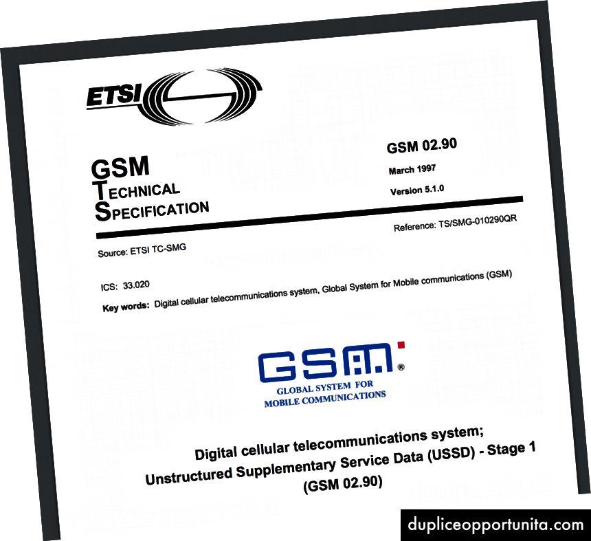 GSM-eritelmän kansilehti (Kuvan luotto: ETSI)