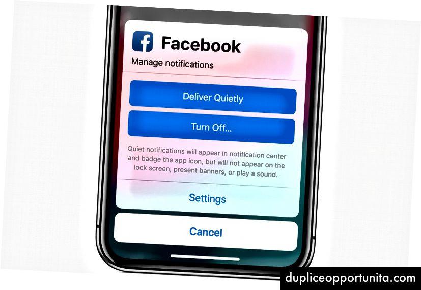 Apple brugte Facebook til dette eksempel, hvilket ikke skulle overraske nogen.