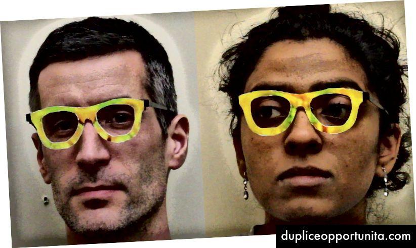Rammer til briller, der er designet til at narre biometriske ansigtssystemer. Foto: Carnegie Mellon University