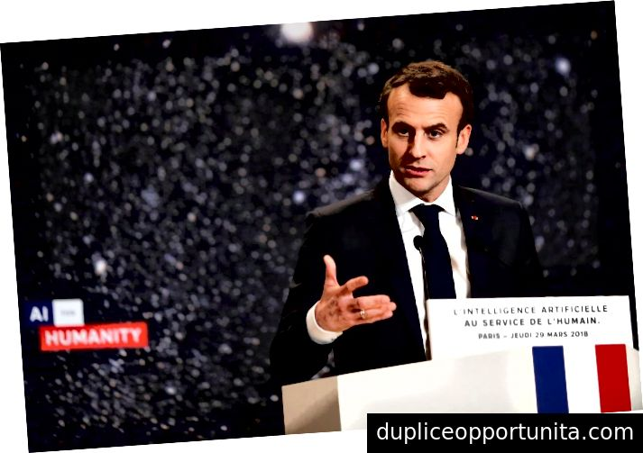 Præsident Macron holdt sin tale under AI For Humanity Conference | via Reuters