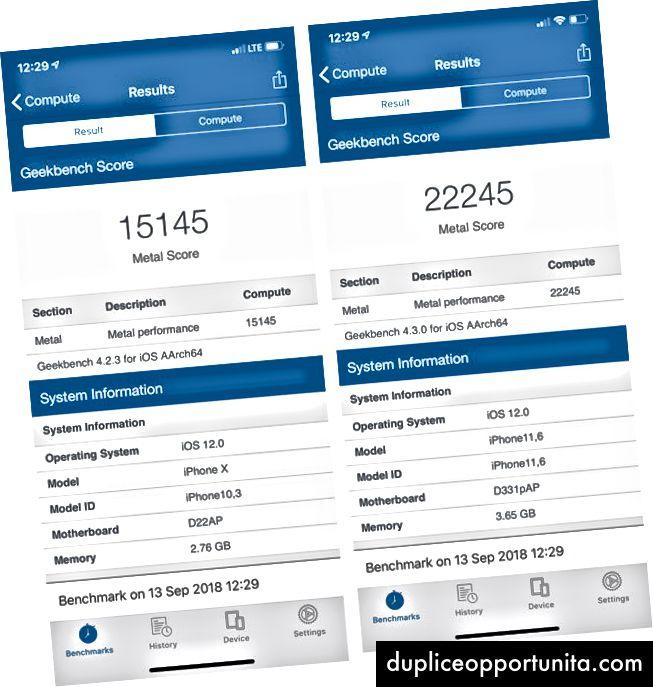 Geekbench tunnistaa iPhone Xs ja Xs Max ja iPhone 11s. Kuvia Geekbenchin kautta