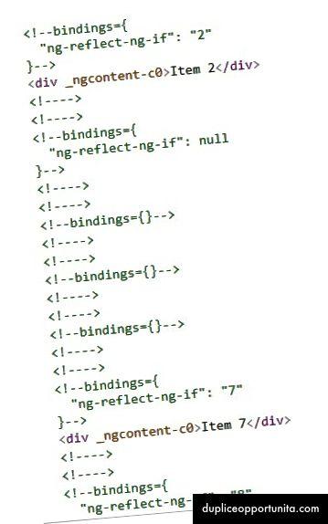 Lopullinen renderoitu DOM <ngcontainer> kanssa