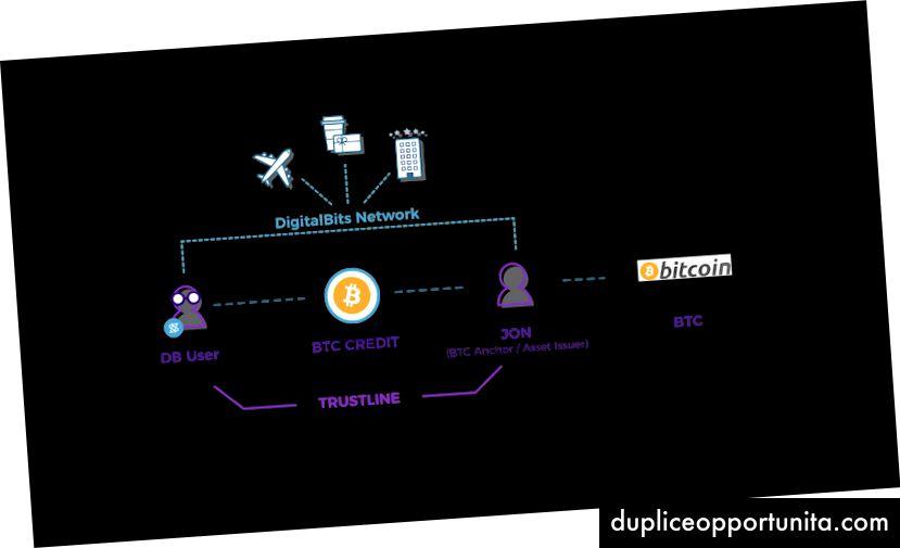 Risorse ancorate che interagiscono con la rete DigitalBits