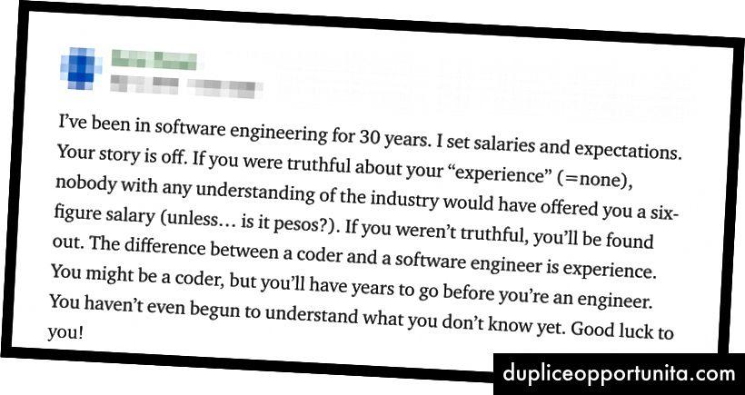 """""""Olen toiminut ohjelmistosuunnittelussa 30 vuotta. … Et ole edes alkanut ymmärtää sitä, mitä et vielä tiedä. Onnea sinulle!"""