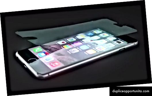 Blålys-blokerende mobil skærmbeskytter via Health-E